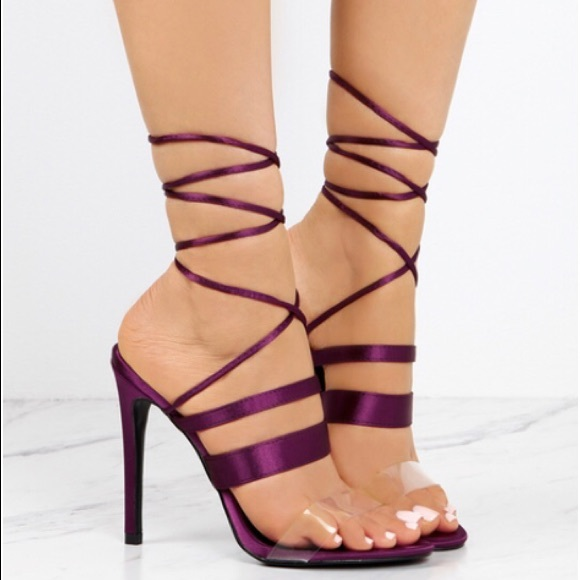 Purple Lace Heels